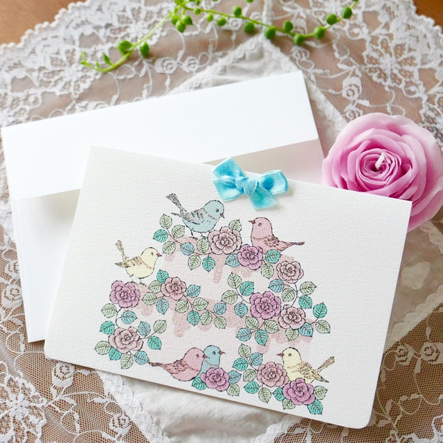 GREETING CARD - KOTORI ROSE CAKE