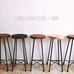 circle  high stool + bar