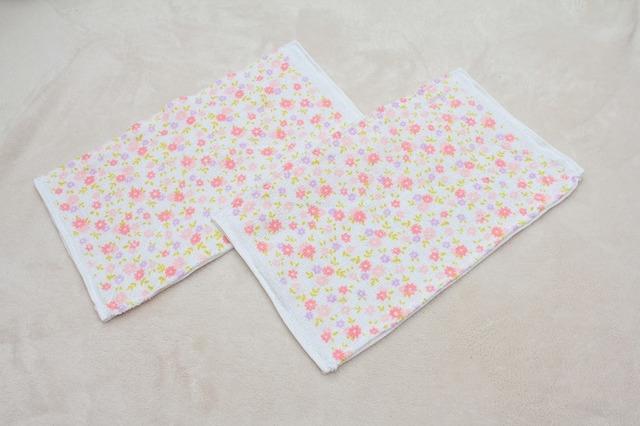再販3☆雑巾 花柄2枚組