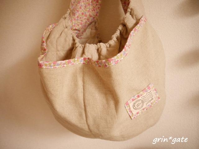 リバティー風 ピンク リネンペットスリング 犬猫 bag