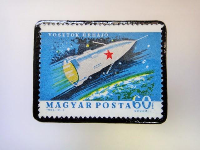 ハンガリー 宇宙切手ブローチ 2719