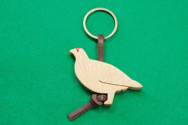 ライチョウ / 雷鳥 (オス) 木のキー...