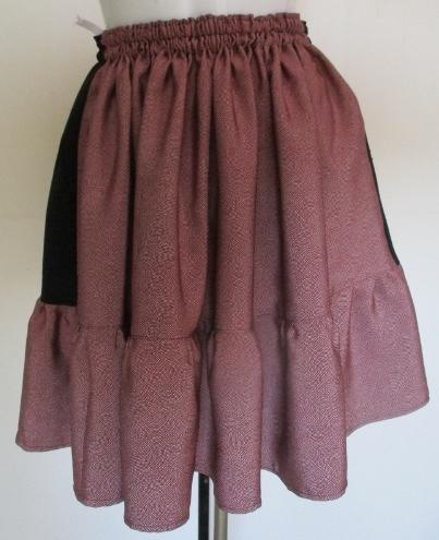 送料無料 黒縮緬と鮫小紋の着物で作っ...