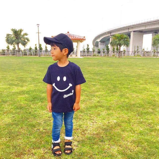 UNISEX★文字入れ☆ニコちゃんTシャツ