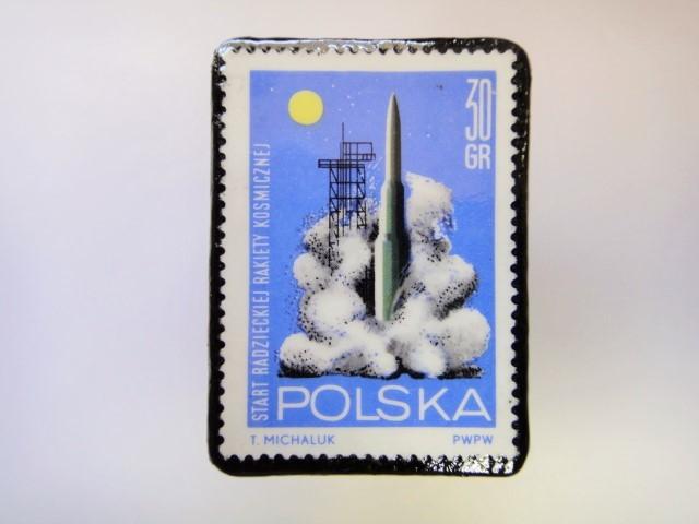 ポーランド 宇宙切手ブローチ 2720