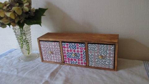 リバティ引き出し木製飾り棚/Sleepingrose