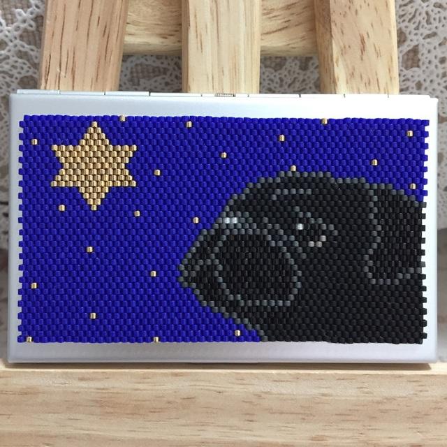 カードケース(星に願いを-パグ?)