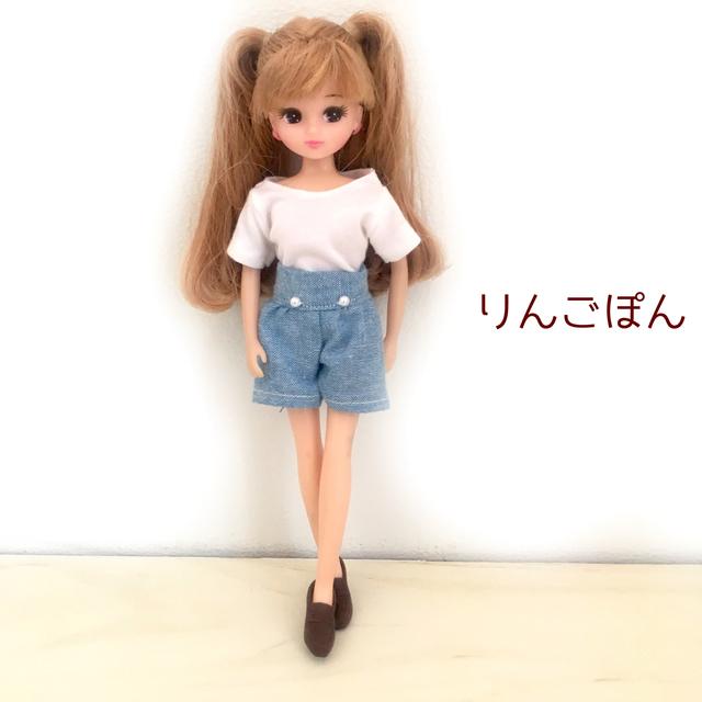 Tシャツとショートパンツ(リカちゃん、...