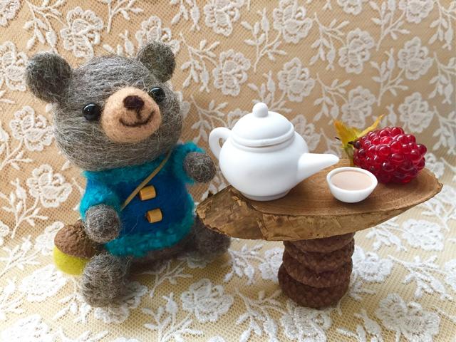 羊毛フェルト くまちゃんのお茶会セット