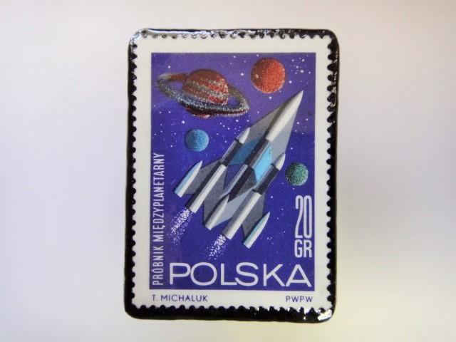 ポーランド 宇宙切手ブローチ 2721