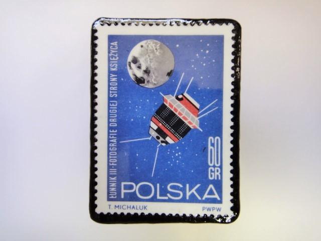 ポーランド 宇宙切手ブローチ 2722