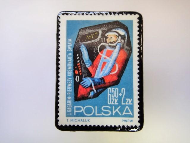 ポーランド 宇宙切手ブローチ 2723
