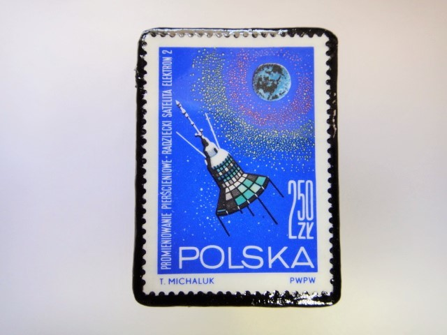 ポーランド 宇宙切手ブローチ 2724