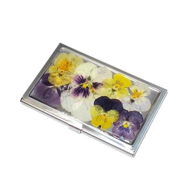 ビオラ(スミレ)の押し花のカードケー...