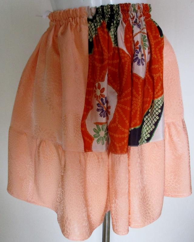 送料無料 訪問着と花柄の着物で作った...
