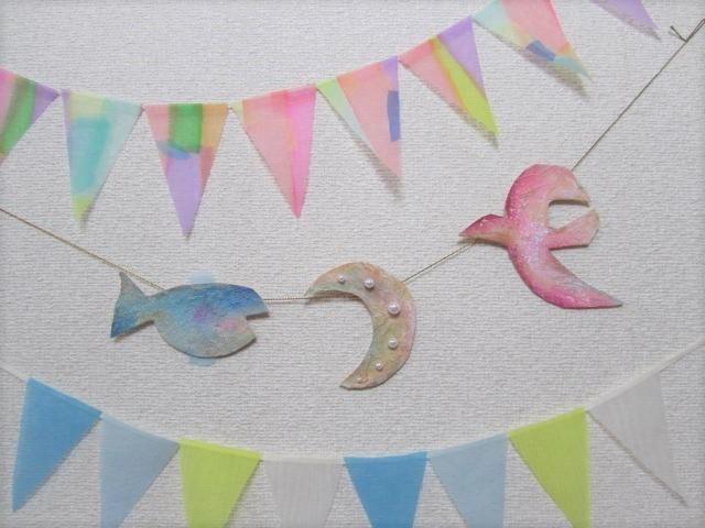 鳥と月と魚のガーランド
