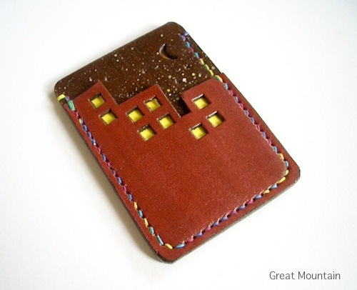 夜景のパスケース プレゼント カードケ...