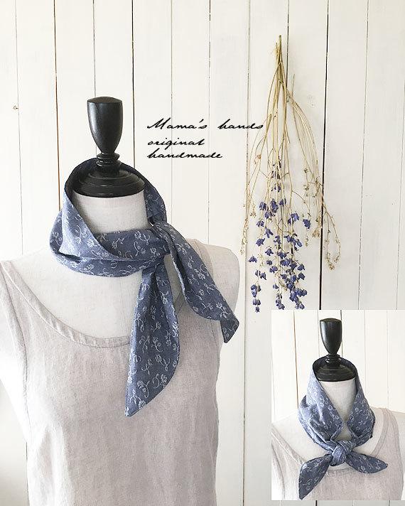 保冷剤 スカーフ 小花織り綿 エコ♪
