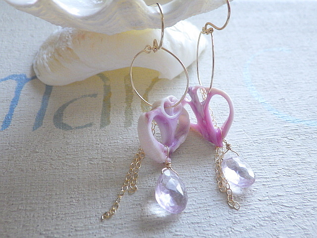 Sliced Shell&Amethyst  14kgf