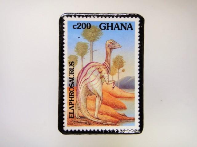 ギアナ 恐竜切手ブローチ 2726