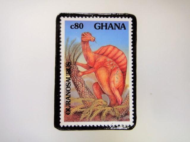 ギアナ 恐竜切手ブローチ 2727