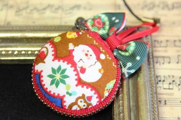 マカロンポーチ(クリスマス:1☆レッド)