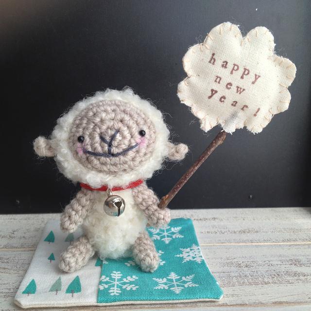 happy new year!羊ちゃん まっしろの毛