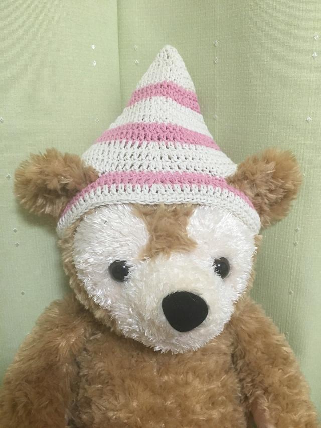 ダッフィ*とんがり帽子*白&ピンクコ...