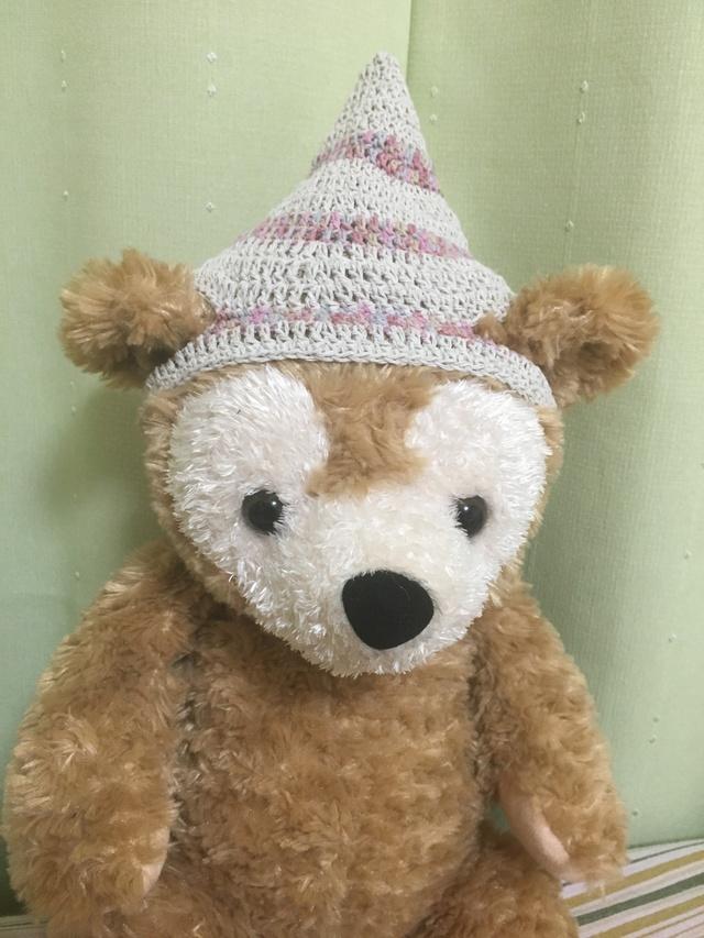 ダッフィ*とんがり帽子*白&ピンク