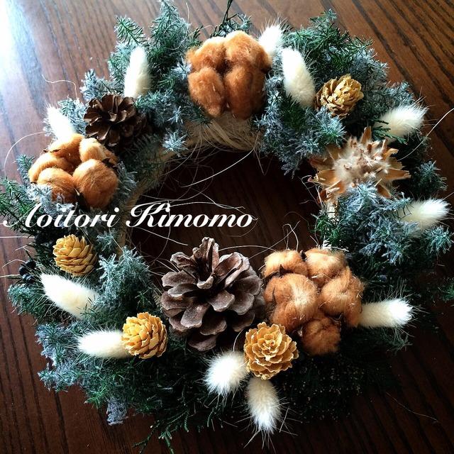 《送料無料》森のおうちのクリスマスリース