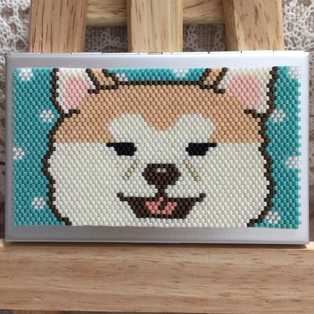 カードケース(秋田犬?)