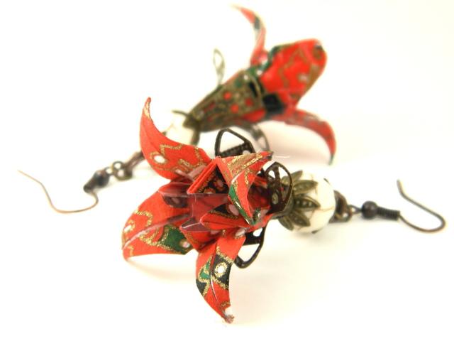 オリガミピアス華・菖蒲(Iris Y01BOI3CBr)