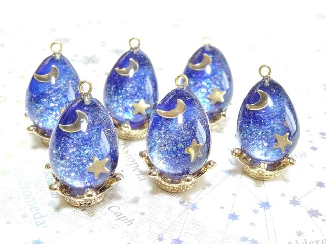 ☆宇宙の卵 月と星<ネックレス>☆