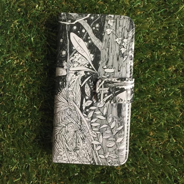 密林の手帳型iPhoneケース   5/5s/SE用
