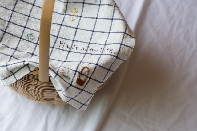 hand stitch cloth -  plants in my lif...