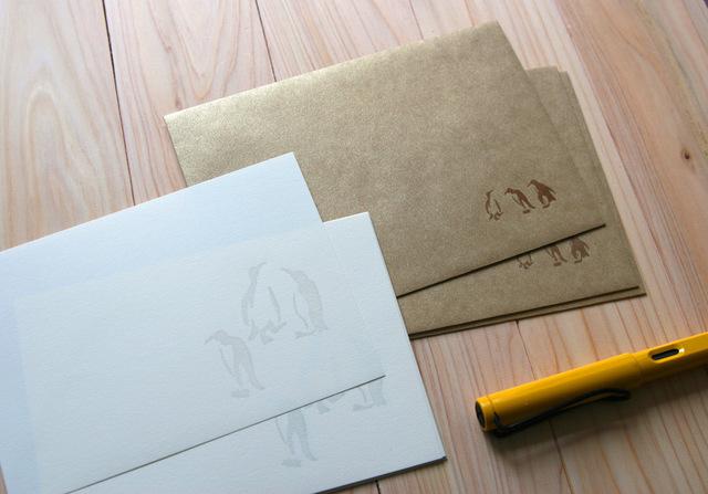 手紙セット(ペンギン)