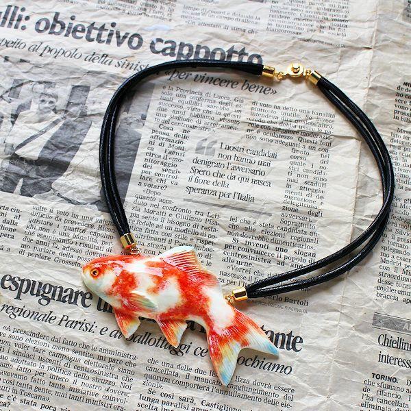 金魚ネックレス[更紗]