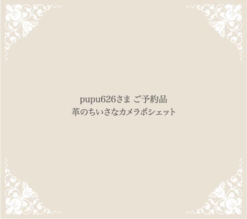 pupu626さま ご予約品 革のちいさなカメラポシェット