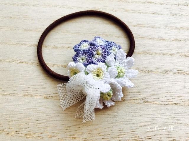 草花のブーケヘアゴム1