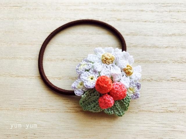 草花のブーケヘアゴム2