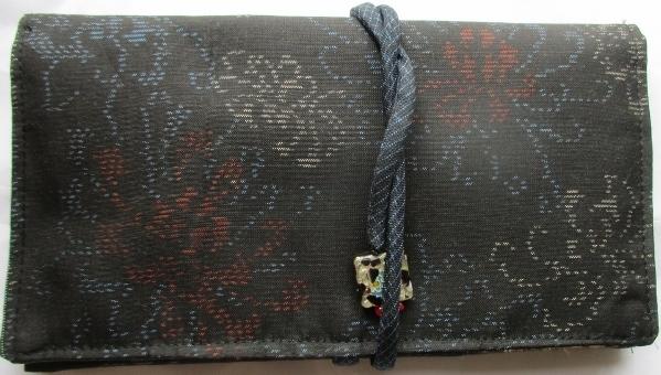 送料無料 色留袖で作った和風財布・ポ...