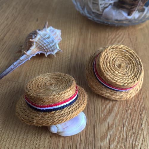 もふいぬ用カンカン帽(トリコロール)