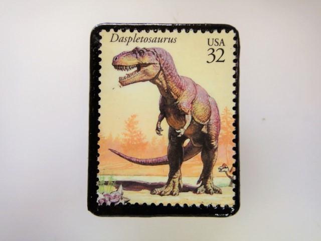 アメリカ 恐竜切手ブローチ 2745