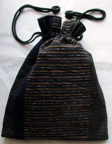 送料無料 唐桟縞の着物と男絣で作った...