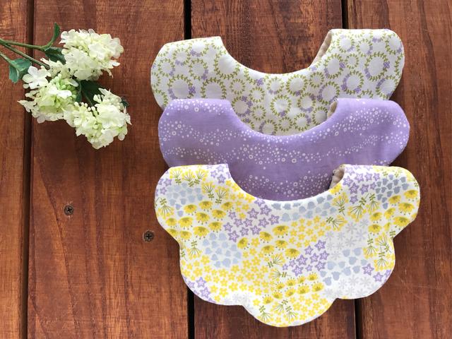 yellowpurpleflower*スタイ3枚set