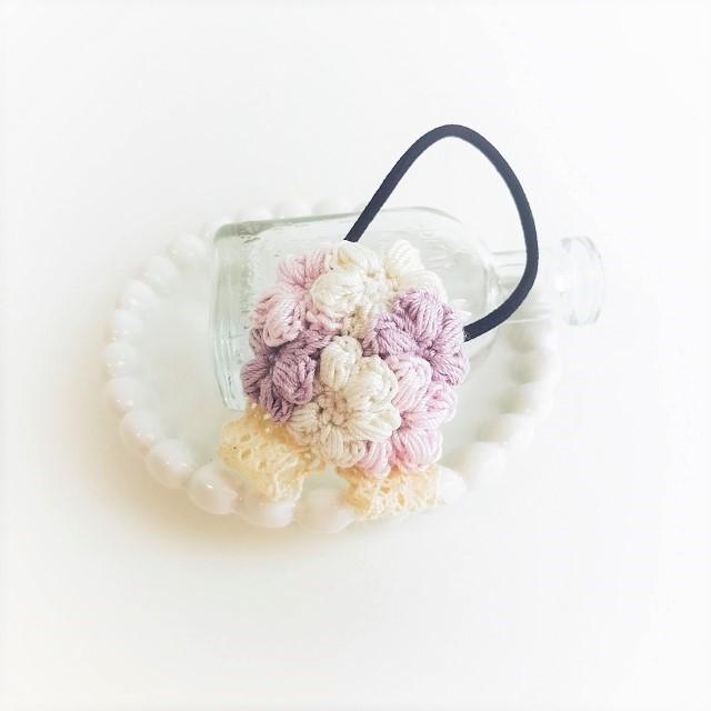 Kobanaブーケヘアゴム*パープル【再販】