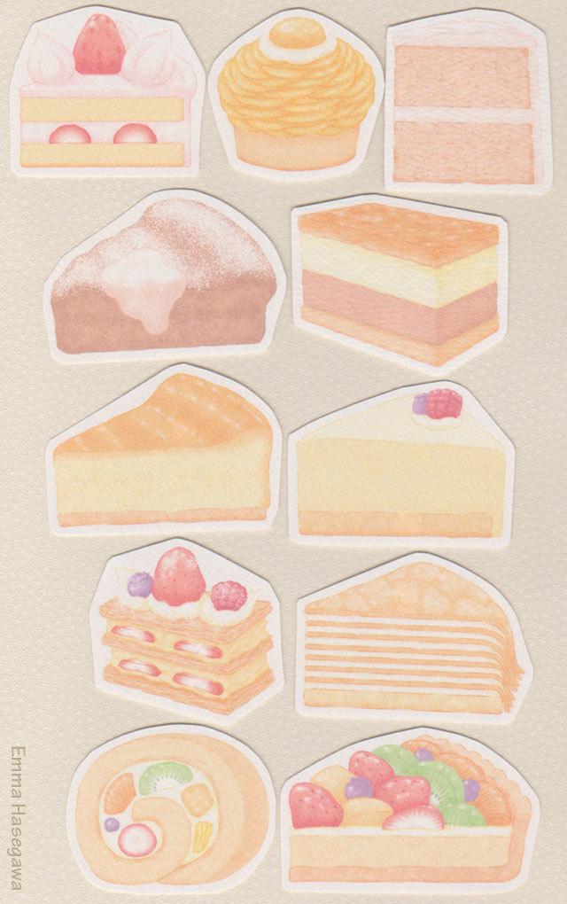 【再販】ケーキの形のカード