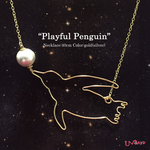 """playful Penguin""ネックレス"