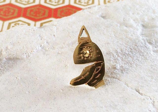 ◆チョウチンおばけ◆真鍮ピンバッジ