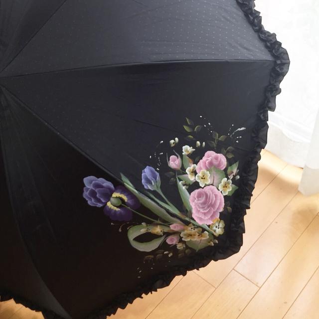 アイリスとバラの日傘